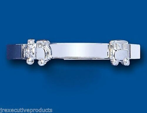 Baby Bangle Solid Sterling Silver Train Adjustable Baby Bracelet Christening